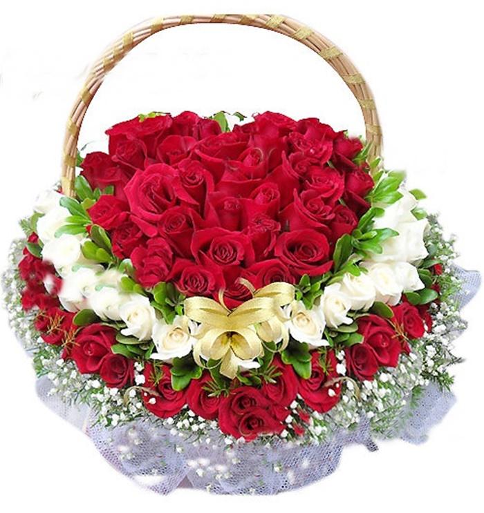 lẵng hoa tươi đẹp