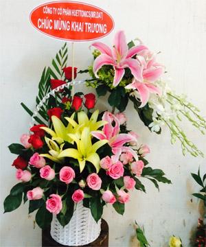giỏ hoa gh 02