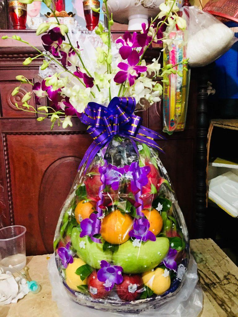 giỏ trái cây đám tang