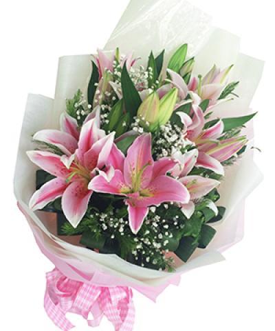 bó hoa lily